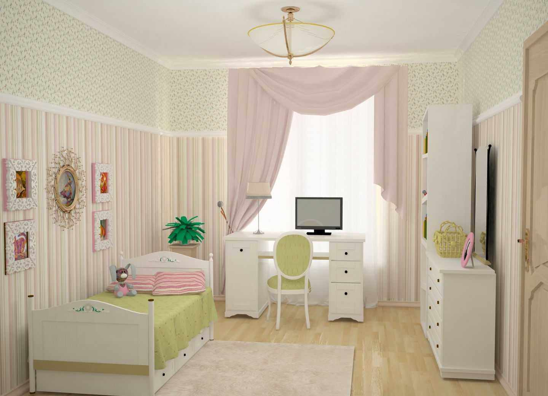 вариант яркого декора детской комнаты