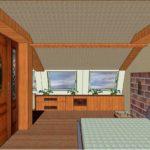 пример красивого дизайна спальной комнаты в мансарде фото