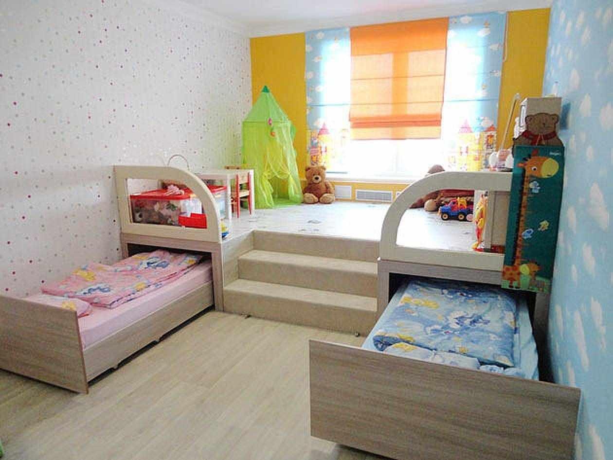 пример необычного дизайна детской комнаты