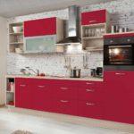 пример красивого стиля красной кухни фото