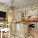 идея необычного интерьера кухни фото