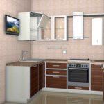 идея необычного стиля кухни с газовым котлом картинка