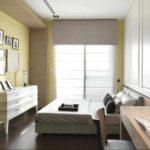 пример красивого декора спальной комнаты в хрущевке картинка