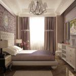 идея красивого интерьера спальной комнаты в хрущевке картинка
