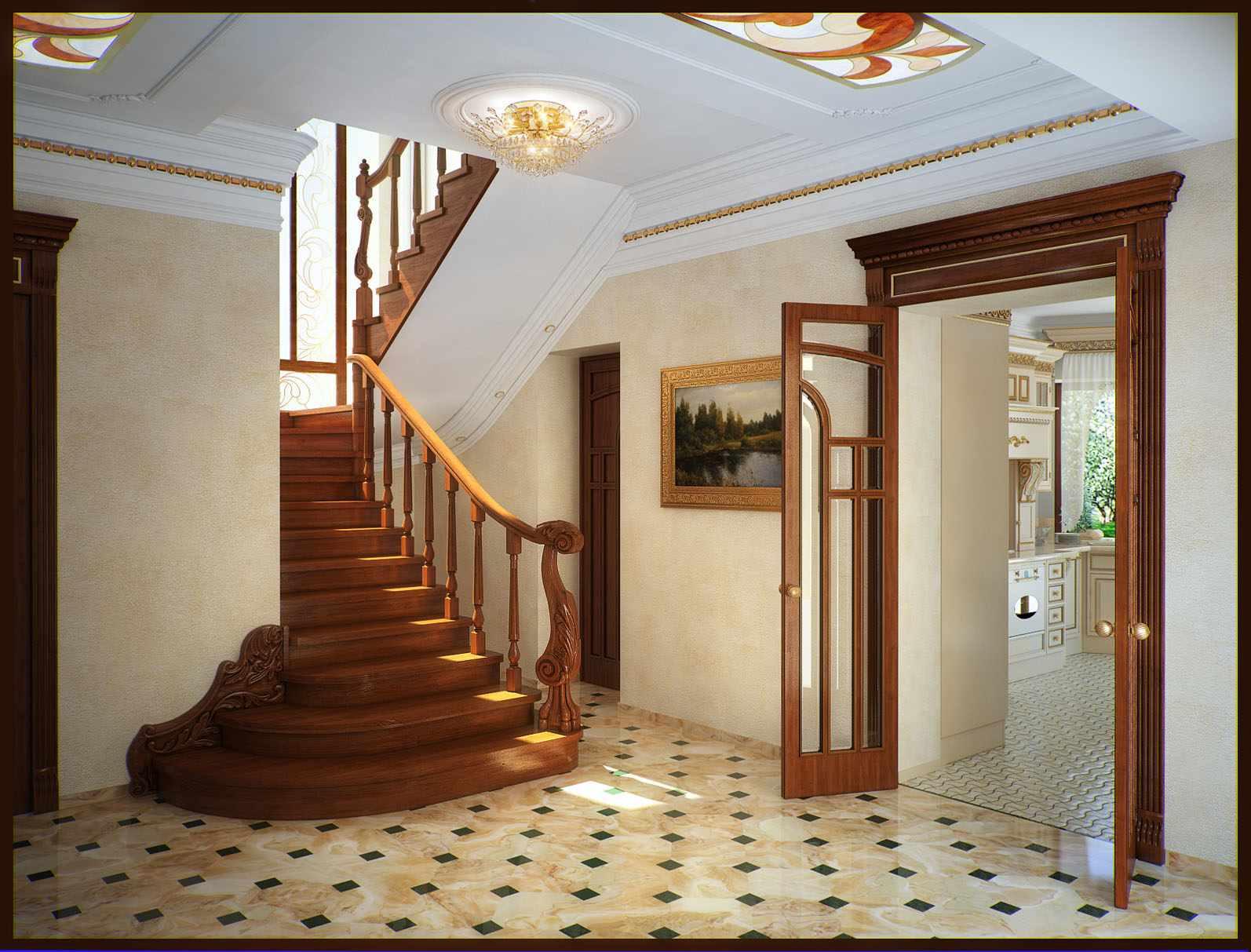 что дизайн холла в частном доме фото клетки появляются