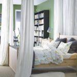 вариант необычного декора спальни картинка