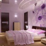 пример яркого стиля спальни картинка