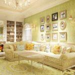 вариант яркого стиля прованс в гостиной картинка