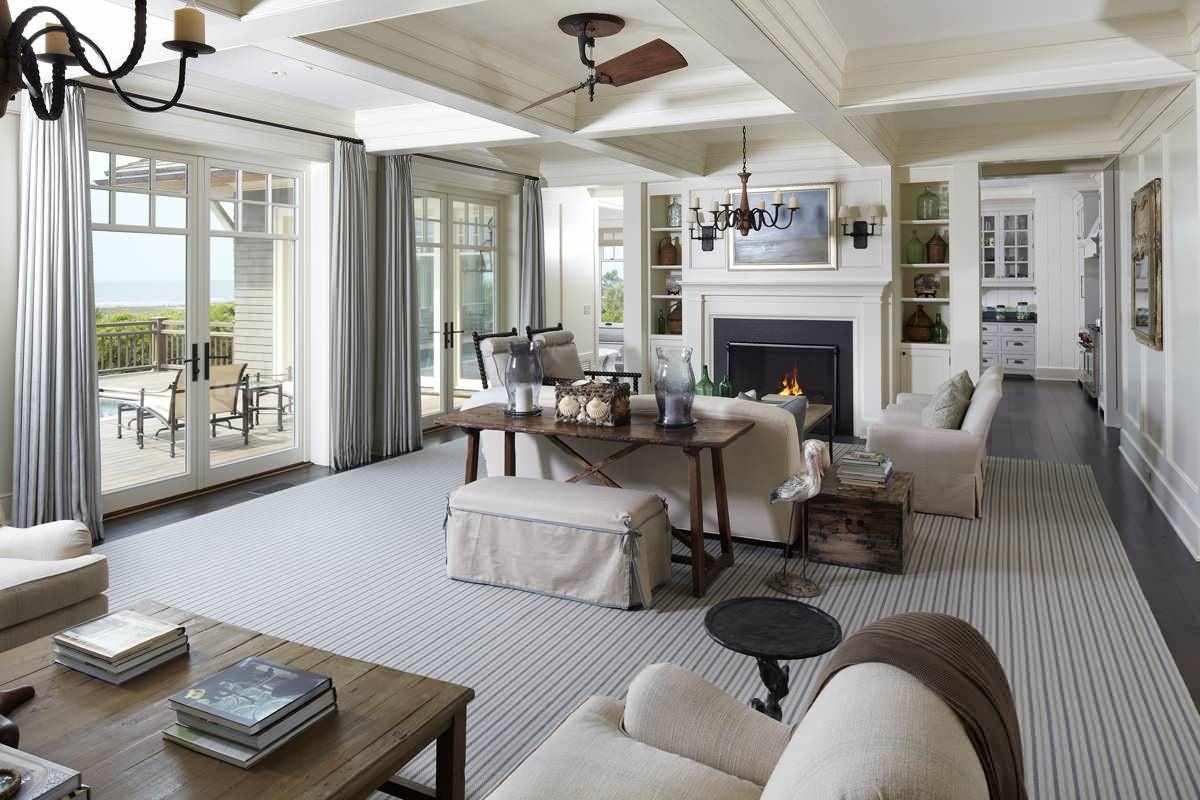 вариант красивого дизайна прованс в гостиной