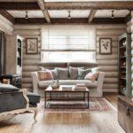 пример необычного интерьера прованс в гостиной фото
