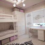пример светлого декора детской комнаты картинка