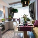 идея светлого дизайна кухни гостиной 16 кв.м фото
