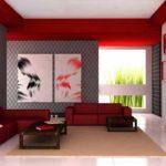 пример яркого дизайна обоев для гостиной фото