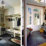пример яркого стиля прихожей в частном доме фото