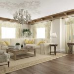 идея красивого стиля прованс в гостиной комнате картинка