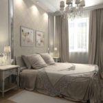 пример светлого интерьера спальни фото