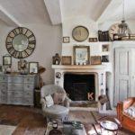идея светлого дизайна прованс в гостиной фото