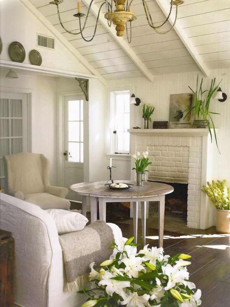 идея яркого декора прованс в гостиной