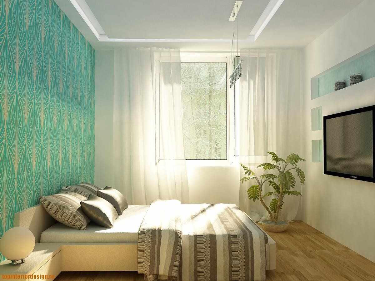 вариант необычного дизайна спальни в хрущевке