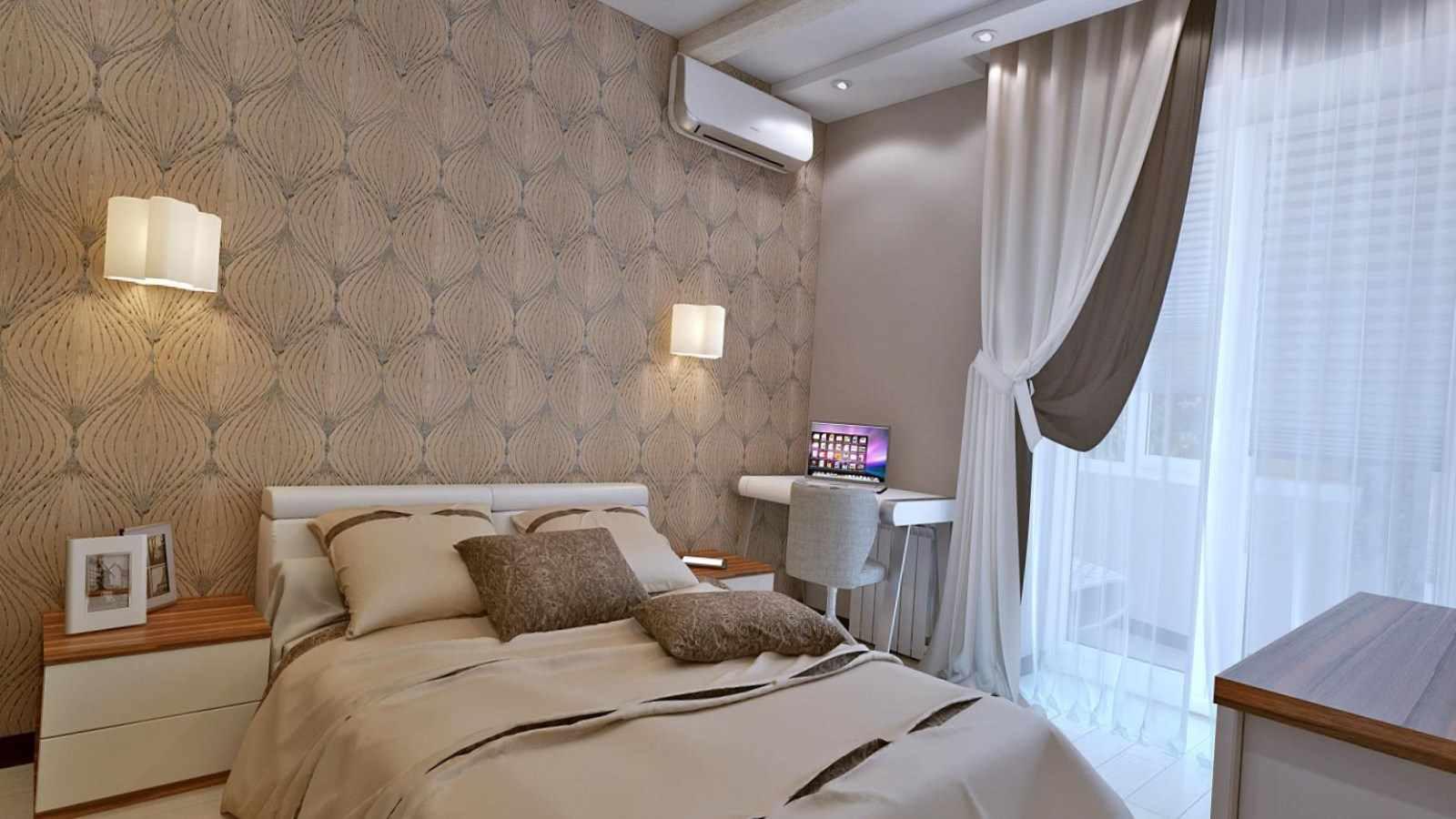 пример необычного дизайна спальни