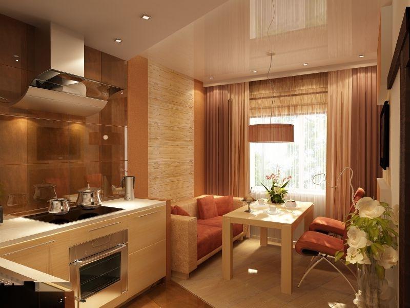 мебель в кухне гостиной
