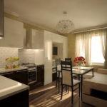 кухня гостиная 15 м2 дизайн интерьера