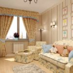 пример светлого декора прованс в гостиной комнате картинка