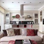 вариант необычного интерьера прованс в гостиной фото
