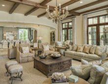 пример красивого дизайна прованс в гостиной комнате фото