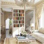 пример красивого дизайна прованс в гостиной фото