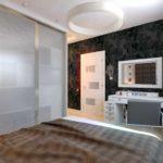 пример яркого стиля спальни в хрущевке картинка