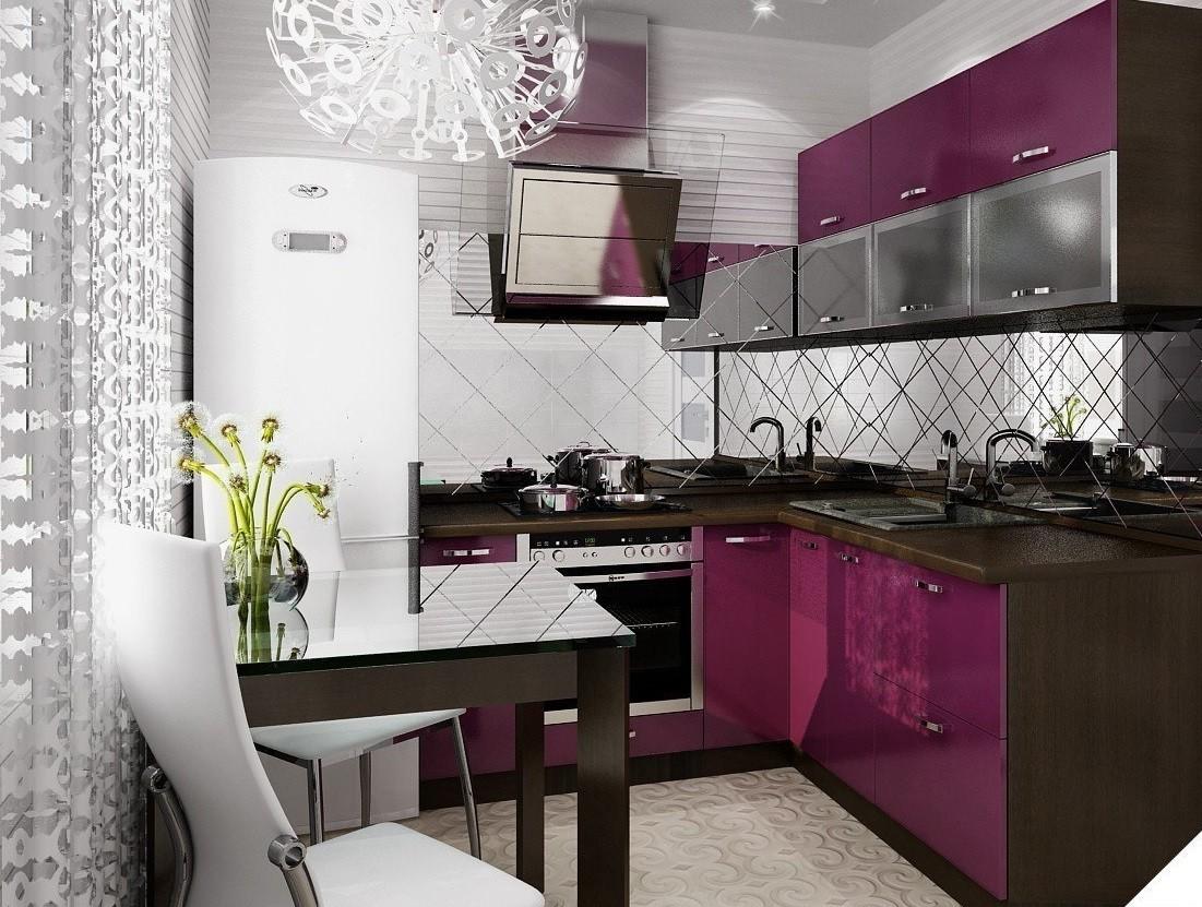 идея необычного интерьера угловой кухни