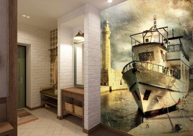 дизайн коридора с фотообоями страшно