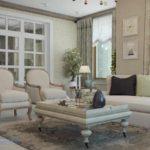 вариант светлого декора прованс в гостиной комнате фото
