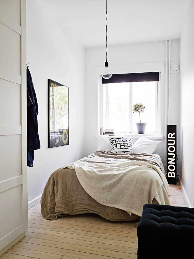 идея светлого декора спальной комнаты в хрущевке