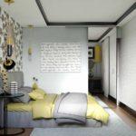 вариант красивого дизайна спальни в хрущевке фото