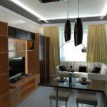 пример яркого стиля кухни гостиной 16 кв.м картинка