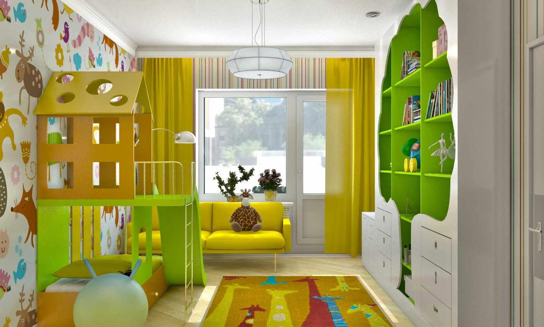 вариант необычного интерьера спальной комнаты для девочки