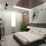 идея светлого интерьера спальной комнаты в хрущевке картинка
