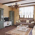 вариант красивого интерьера прованс в гостиной комнате картинка