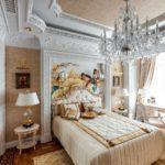 пример красивого интерьера спальной комнаты в хрущевке картинка
