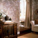вариант красивого интерьера обоев для гостиной картинка