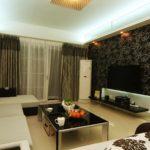 идея светлого дизайна обоев для гостиной фото