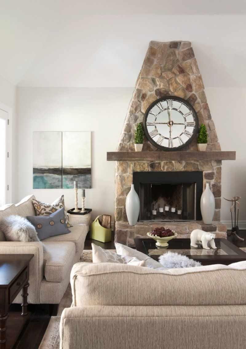 паяльная лампа гостиная в стиле прованс с камином фото себе стену