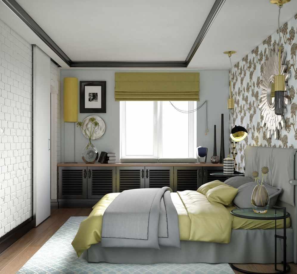 вариант красивого дизайна спальной комнаты в хрущевке
