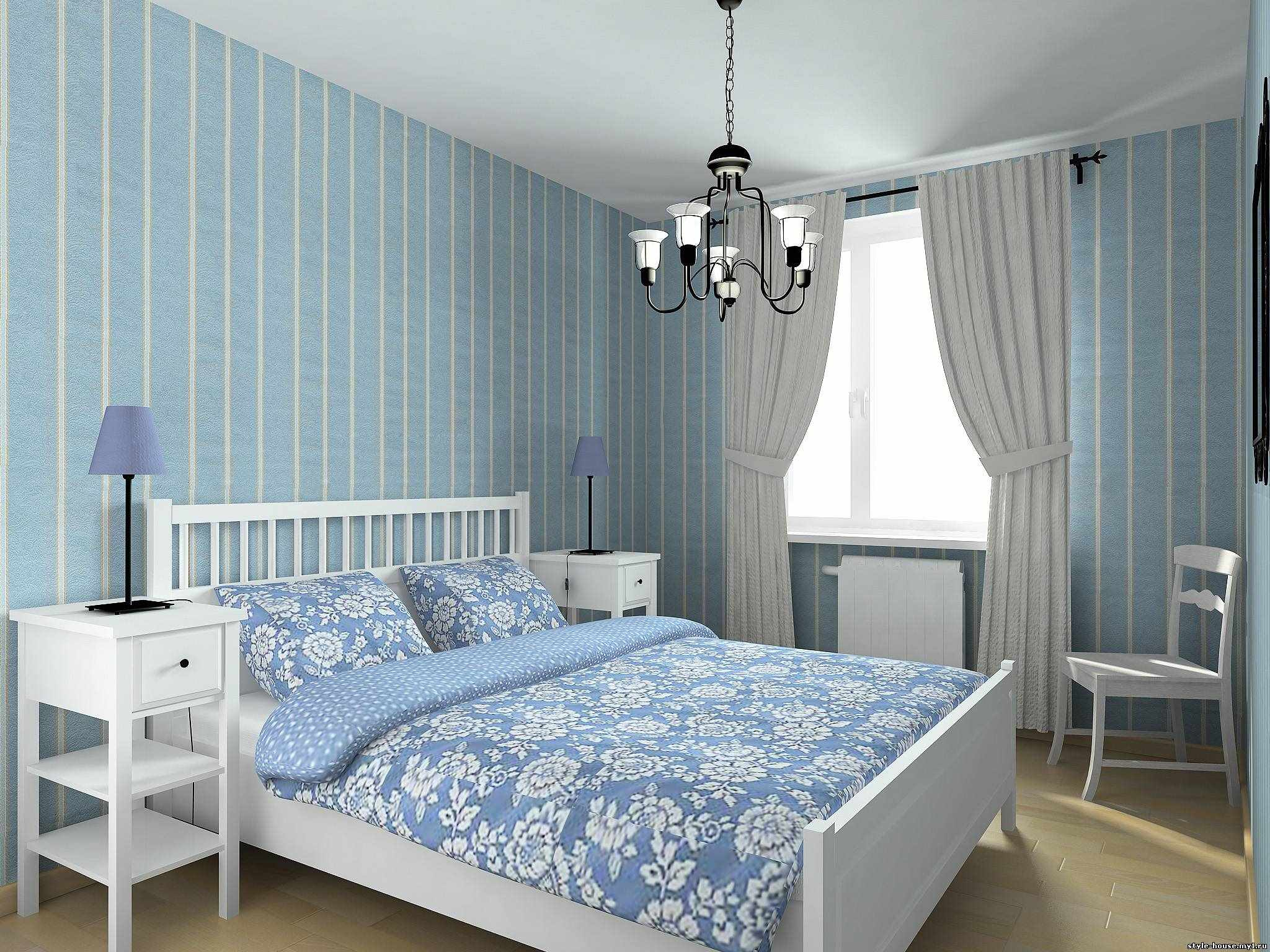 идея светлого дизайна спальни