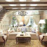 идея яркого декора прованс в гостиной комнате картинка