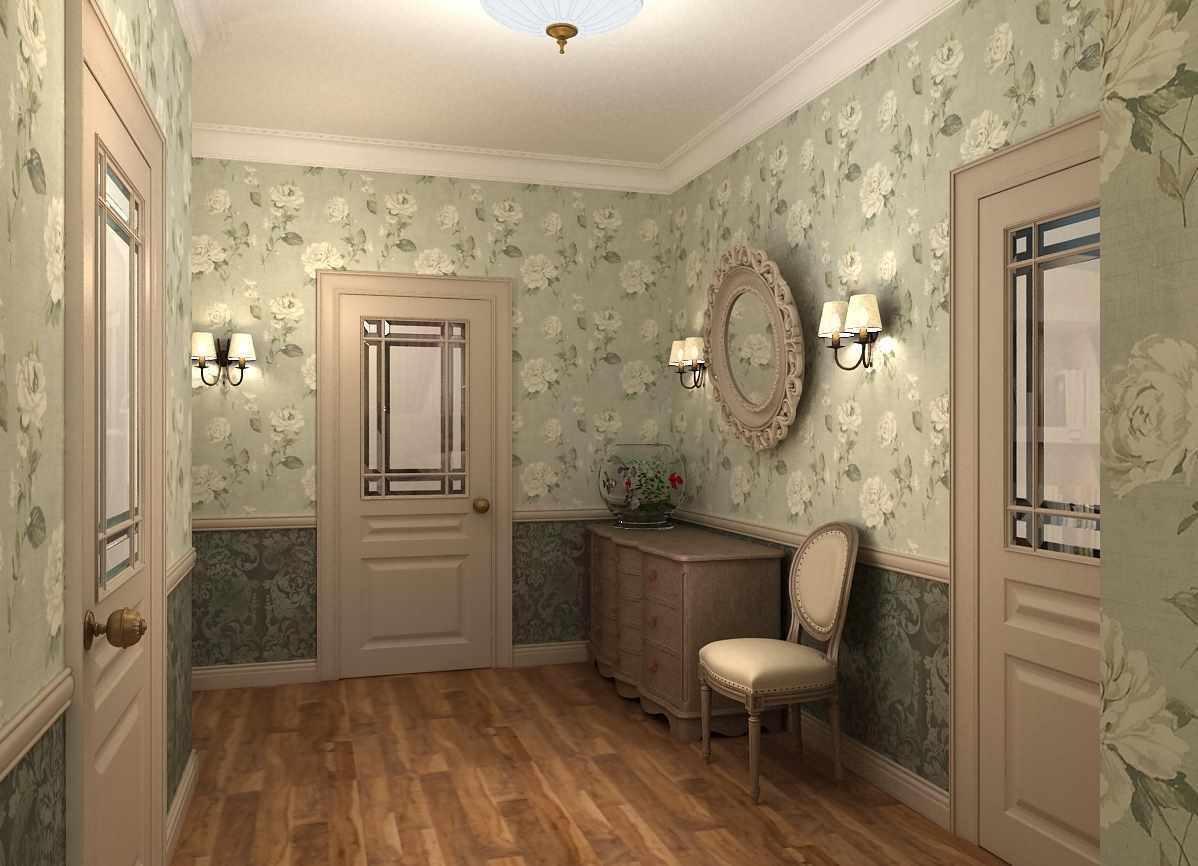 идея необычного стиля коридора в частном доме