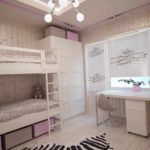 идея яркого интерьера спальной комнаты для девочки фото