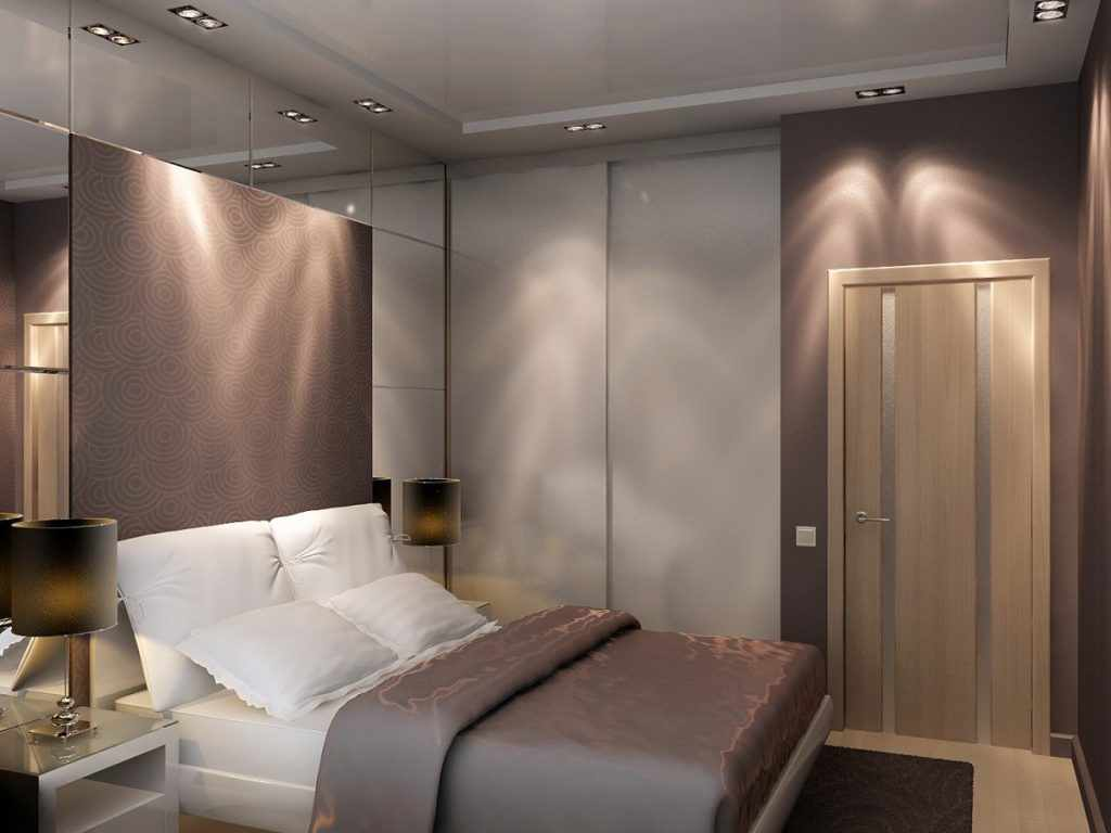 идея светлого декора спальни в хрущевке